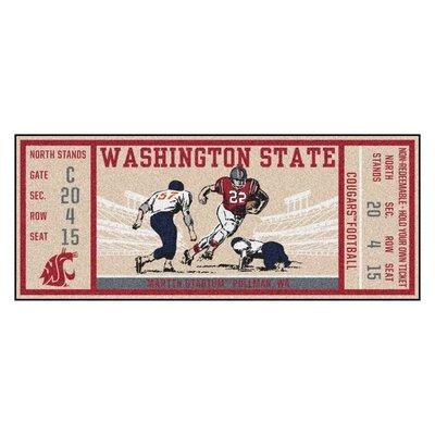 Ticket Runner Utility Mat NCAA Team: Washington State University
