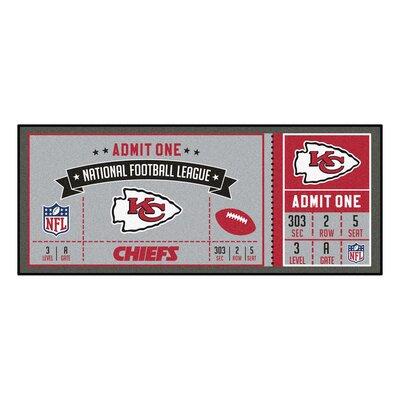 Ticket Runner Utility Mat NFL Team: Kansas City Chiefs