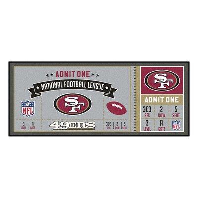Ticket Runner Utility Mat NFL Team: San Franscisco 49ers