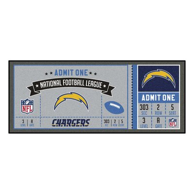 Ticket Runner Utility Mat NFL Team: San Diego Chargers