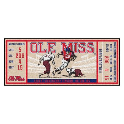 Ticket Runner Utility Mat NCAA Team: University of Mississippi