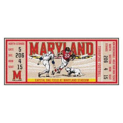 Ticket Runner Utility Mat NCAA Team: University of Maryland, College Park