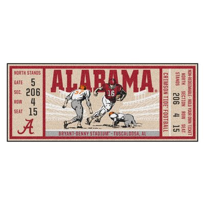 Ticket Runner Utility Mat NCAA Team: University of Alabama