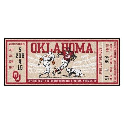 Ticket Runner Utility Mat NCAA Team: University of Oklahoma