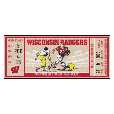 Ticket Runner Utility Mat NCAA Team: University of Wisconsin, Madison