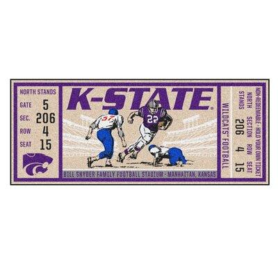 Ticket Runner Utility Mat NCAA Team: Kansas State University