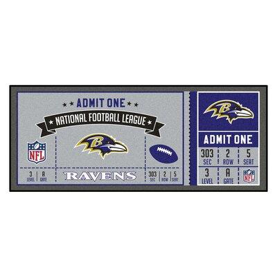 Ticket Runner Utility Mat NFL Team: Baltimore Ravens