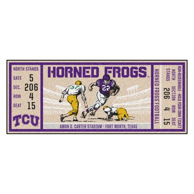 Ticket Runner Utility Mat NCAA Team: Texas Christian University