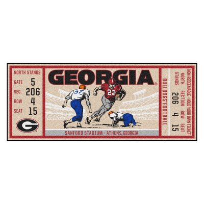Ticket Runner Utility Mat NCAA Team: University of Georgia