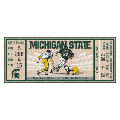Ticket Runner Utility Mat NCAA Team: Michigan State University