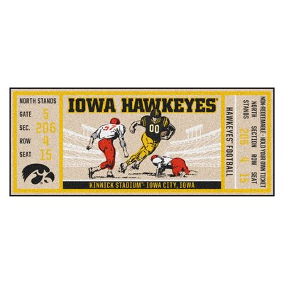 Ticket Runner Utility Mat NCAA Team: University of Iowa
