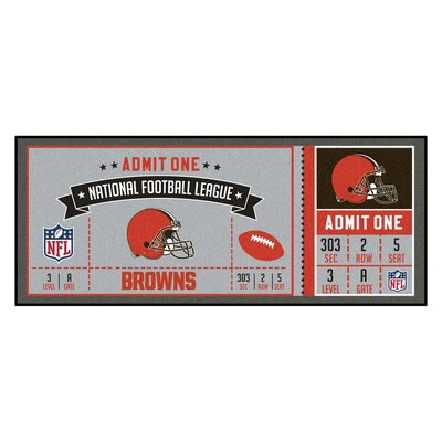 Ticket Runner Utility Mat NFL Team: Cleveland Browns