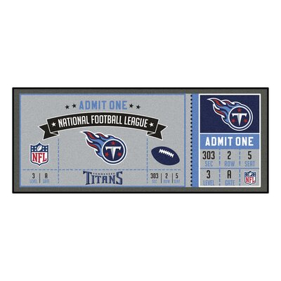 Ticket Runner Utility Mat NFL Team: Tennessee Titans