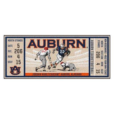 Ticket Runner Utility Mat NCAA Team: Auburn University
