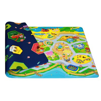 Kids Playmat in My Town Indoor/Outdoor Area Rug