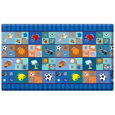 Kids Playmat in Star Player Indoor/Outdoor Area Rug