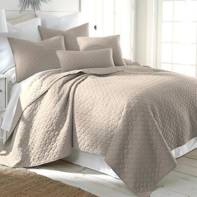 Bordeaux Reversible Quilt Set Size: King, Color: Taupe