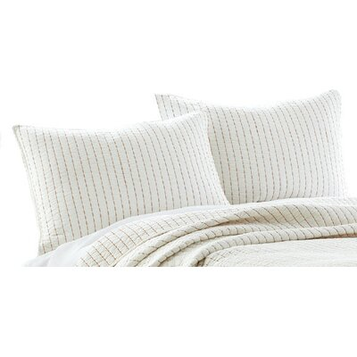2 Piece Sham Set Color: Cream / Orange