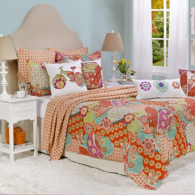Zanzibar Reversible Quilt Set Size: Full/Queen