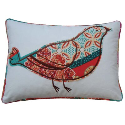 Zanzibar Bird Cotton Throw Pillow