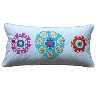 Zanzibar Medallion Feather Cotton Throw Pillow