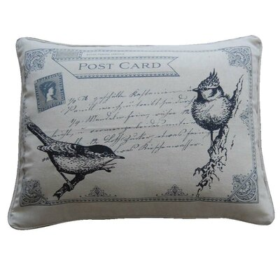 Postcard Feather Pillow
