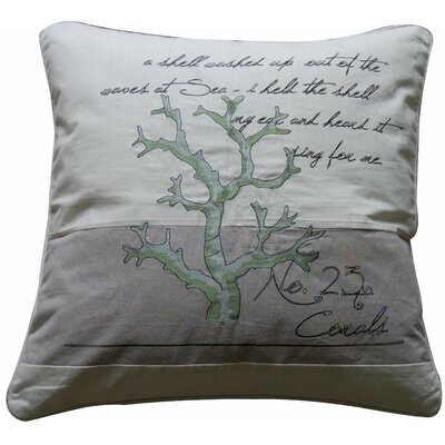 Pescador Coral Number 23 Feather Cotton Throw Pillow
