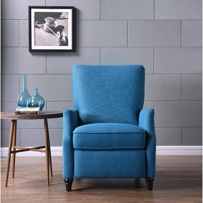 Push Back Recliner Upholstery: Peacock Blue