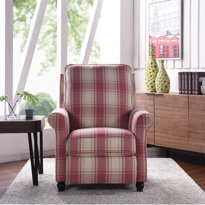Push Recliner Color: Pink