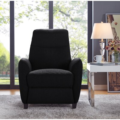 Push Back Recliner Upholstery: Black