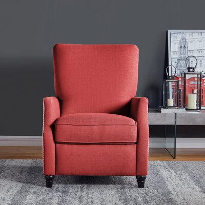Push Back Recliner Upholstery: Sunrise Red