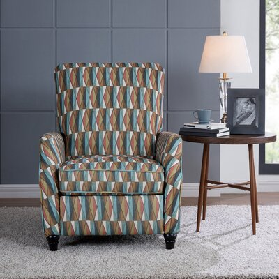 Push Back Stain Glass Fabric Recliner Upholstery: Terracotta