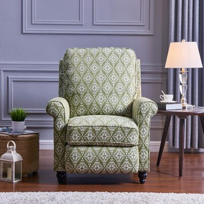 Push Back Recliner Upholstery: Pistachio Green