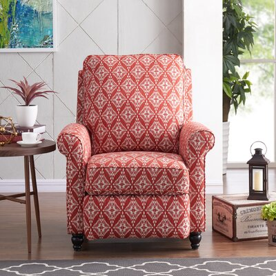 Push Back Recliner Upholstery: Cranberry Red