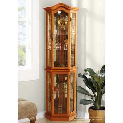 London Lighted Corner Curio Cabinet
