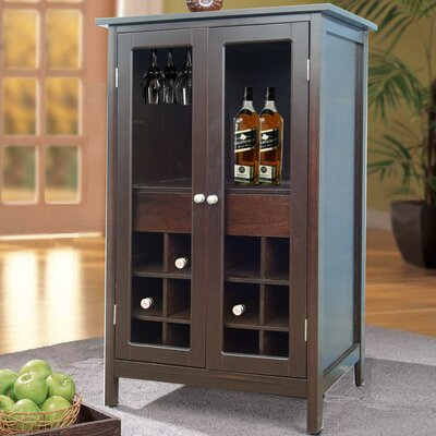12 Bottle Floor Wine Cabinet