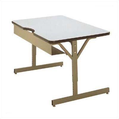 84 W Scholar Crafts Compu Training Table Base Finish: Platinum, Tabletop Finish: Gray