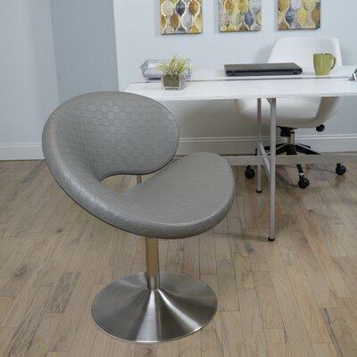 C Shape Swivel Papasan Chair Color: Gray