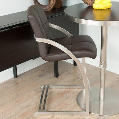 24 Bar Stool Upholstery: Brown