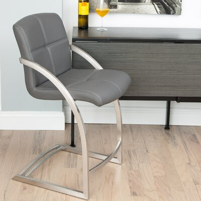 24 Bar Stool Upholstery: Gray