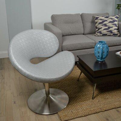 C Shape Swivel Papasan Chair Color: Silver