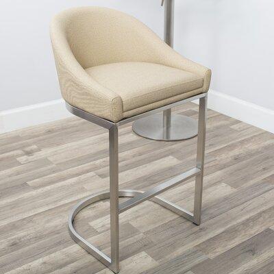 26 Bar Stool Upholstery: Beige