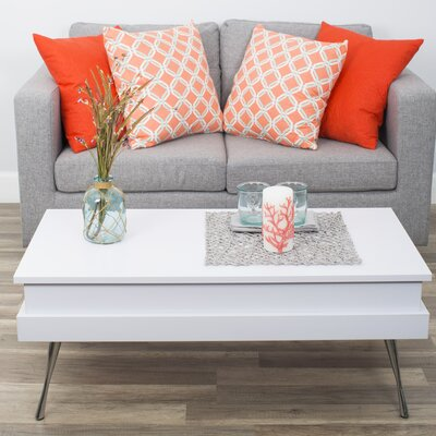 Cornelia Lift Top Coffee Table Color: White