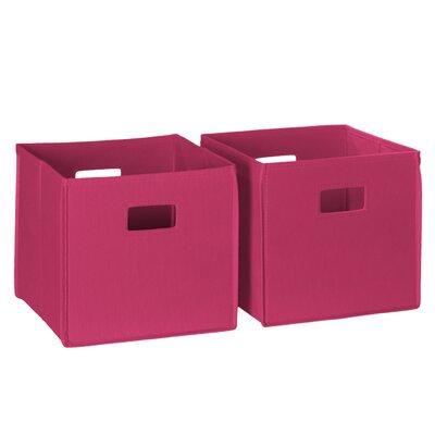 Folding Toy Storage Bin Color: Hot Pink 02-097
