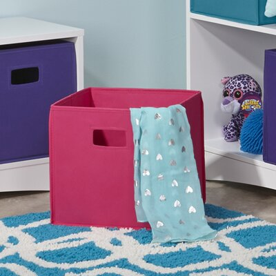 Folding Toy Storage Bin Color: Hot Pink VVRE2715 38322457