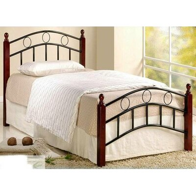 Twin Platform Bed Color: Mahogany