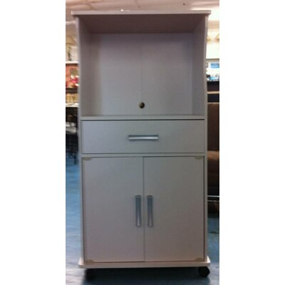 Microwave Cart Finish: White