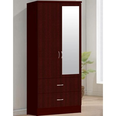 2 Door Armoire Finish: Mahogany
