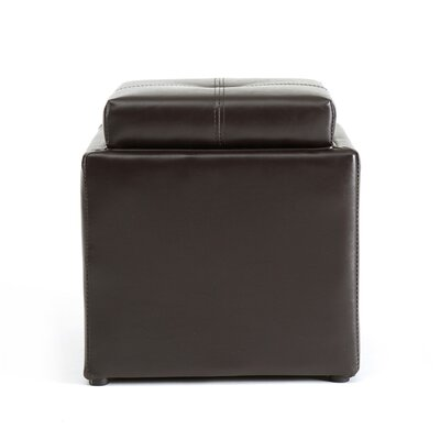 Cube Storage Ottoman Upholstery: Brown