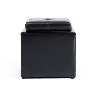 Cube Storage Ottoman Upholstery: Black